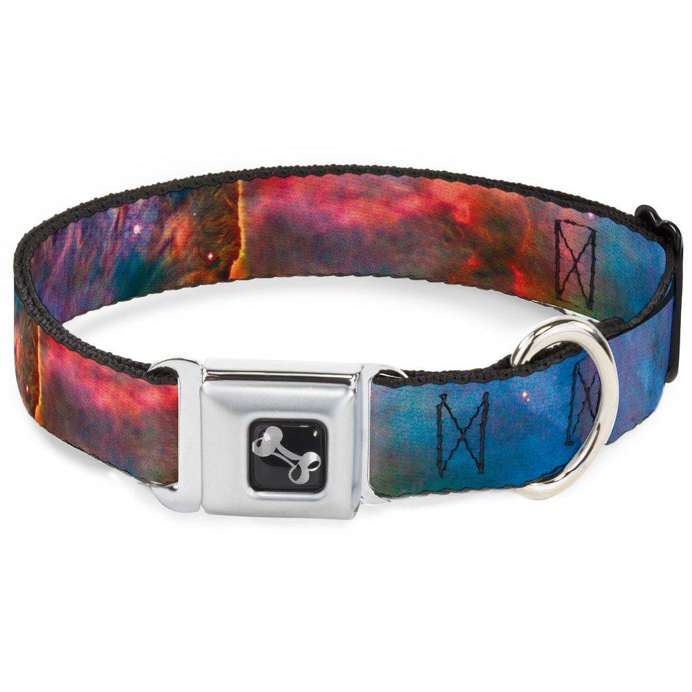 Buckle-Down Seatbelt Buckle Dog Collar Supernova Space Collage 1  Wide Fits 11-17  Neck Medium