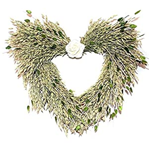 Irish Bliss Heart Dried Floral Wreath for Interior Spring Summer Decor 86
