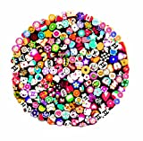 Jovana Nail Art Manicure Fimo Canes, Sticks, and Rods Gel Tips with Cutter, 200 Count