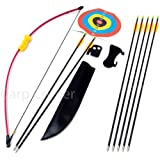 "Kids Starter 36"" Archery Set With 7 Arrows Recurve Bow Plus Shooting Targets"