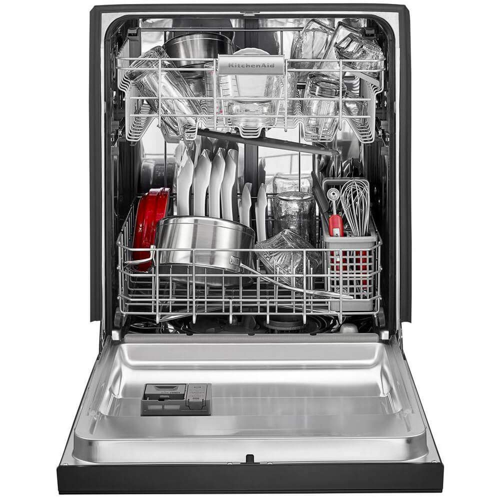 Amazon.com: KitchenAid KDFE104HBL 46dBA Negro Front Control ...