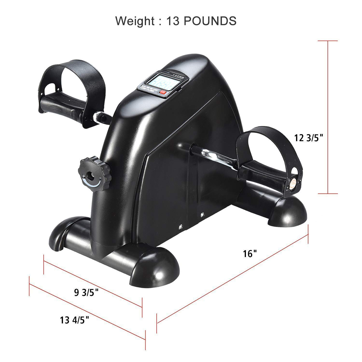 Ozoy Exercise Cycle Portable Mini Home Pedal Gym Fitness Exerciser with Adjustable Resistance LCD Display for Leg Arm Cardio product image