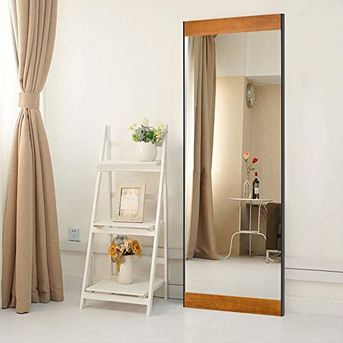 Leafmirror Floor Mirror Full Length Mirror Wood Frame Standing Hanging Mirror Dressing Mirror Wall Mounted Mirror Leaning Against Wall