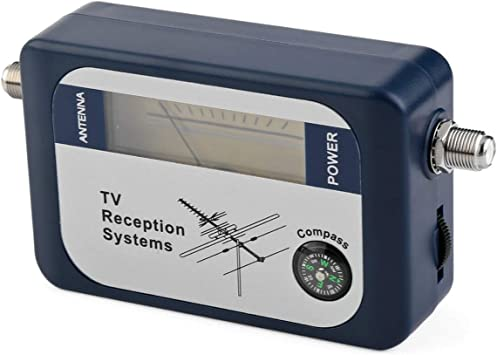 Lodenlli DVB-T Finder Antena Digital de TV terrestre Antena Señal Potencia del medidor de Potencia Puntero Sistemas de recepción de TV con brújula