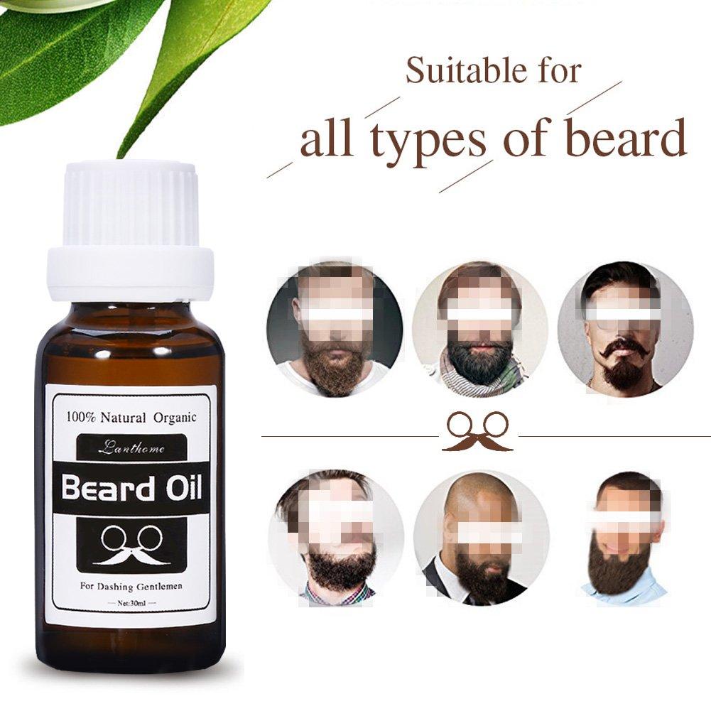 Barba natural del bigote del aceite crece estimular el crecimiento del pelo facial caballeros cuidado de la barba: Amazon.es: Belleza