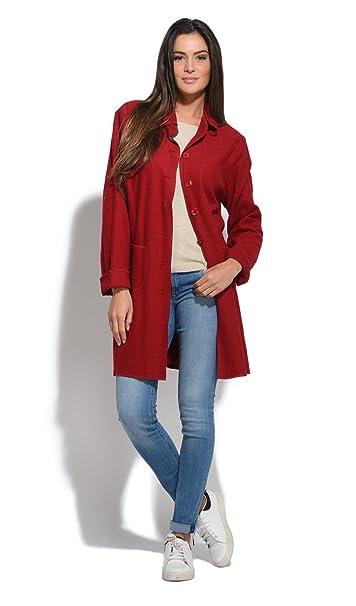 Amazon Mujer Rojo Bella Abrigo Otoñoinvierno Cloe Blue Colección HI08w