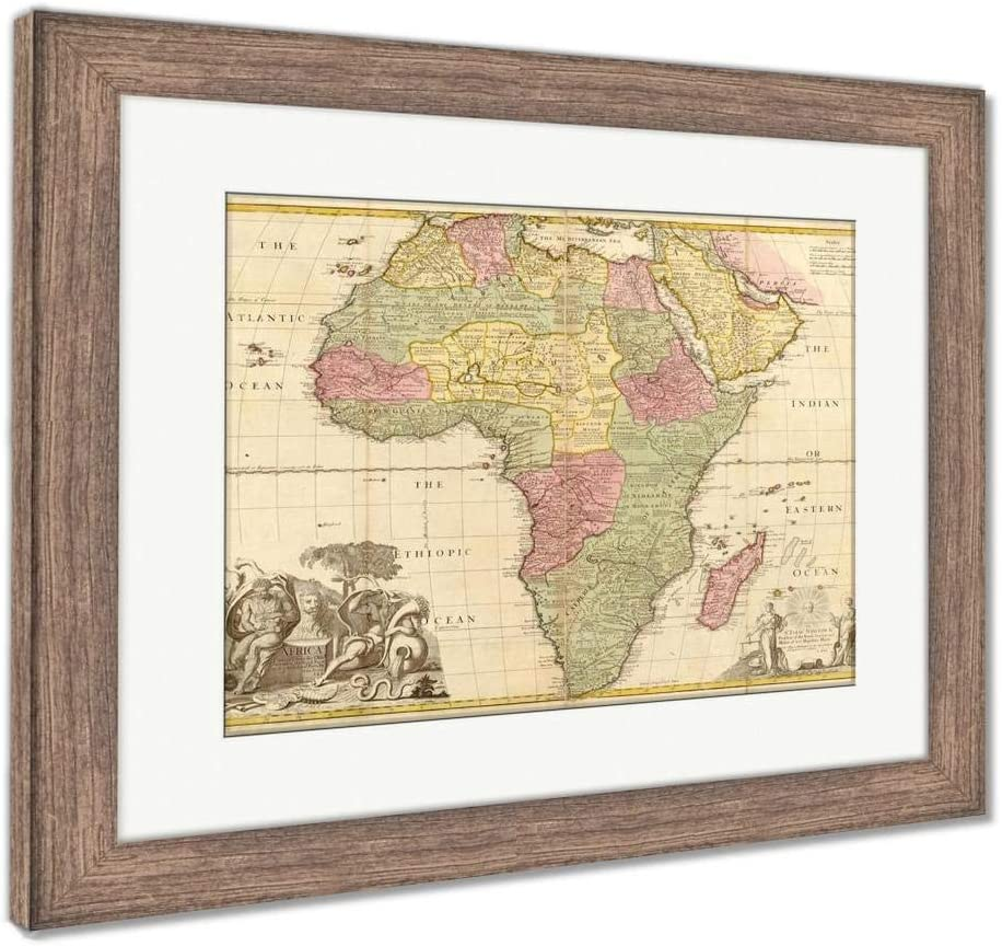 Framed Map Of Africa Amazon.com: Ashley Framed Prints Ancient Map of Africa, Wall Art