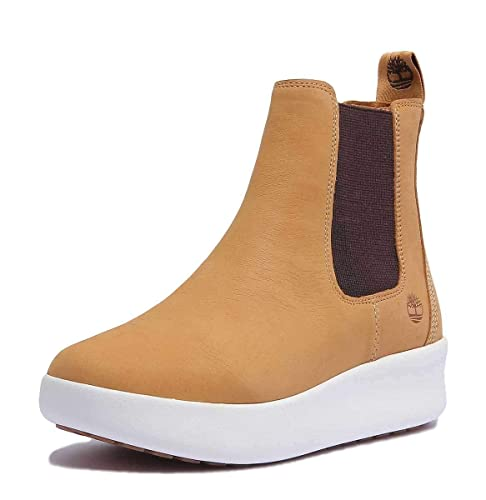 Timberland Womens Berlin Park Chelsea Boots in Spruce Yellow