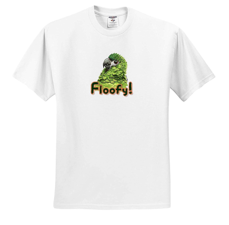 3dRose Skye Elizabeth Designs Adult T-Shirt XL Fluffy Hahns Macaw ts/_308669