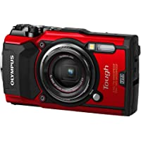 "Olympus TG-5 Waterproof Camera with 3"" LCD, Red"