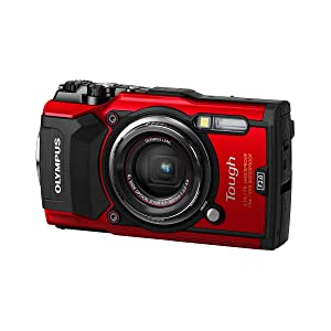 Olympus TG-5 Waterproof Camera with 3-Inch LCD, Red