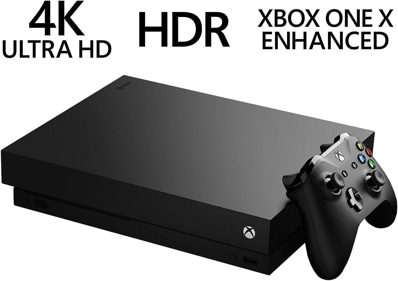 Microsoft Xbox One X 2TB unidad híbrida de estado sólido con controlador sin cables – Native 4K – HDR – mejorado por Scorpio CPU y Fast SSHD – Negro (Encerado): Amazon.es: Informática