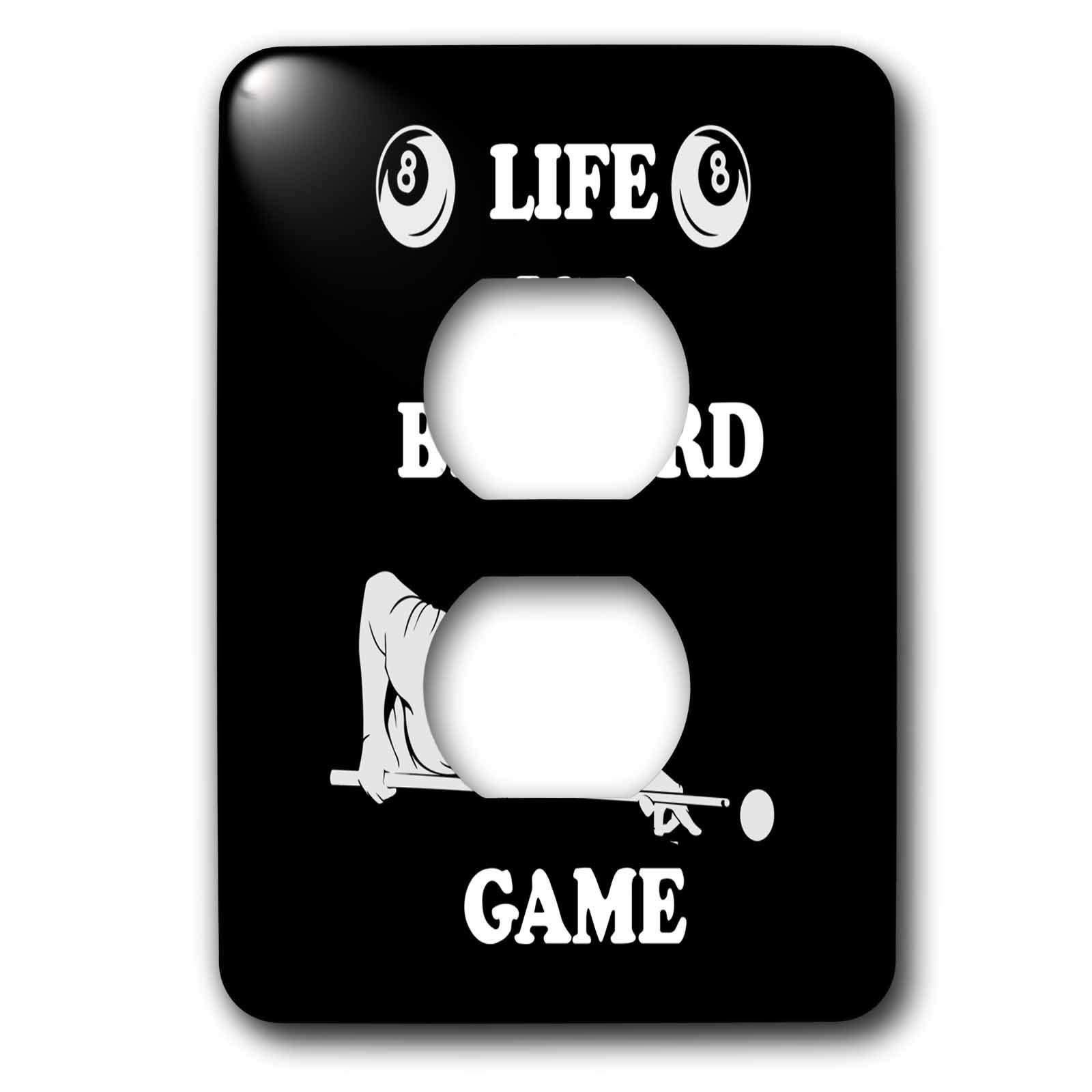 3dRose Sven Herkenrath Billiard - Billiard Snooker Design with Life is a Billiard Game - 2 plug outlet cover (lsp_296584_6)