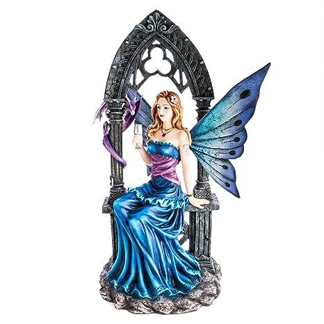 Amazon.com: MDI Australia Blue Fairy with Dragon Pet: Home ...