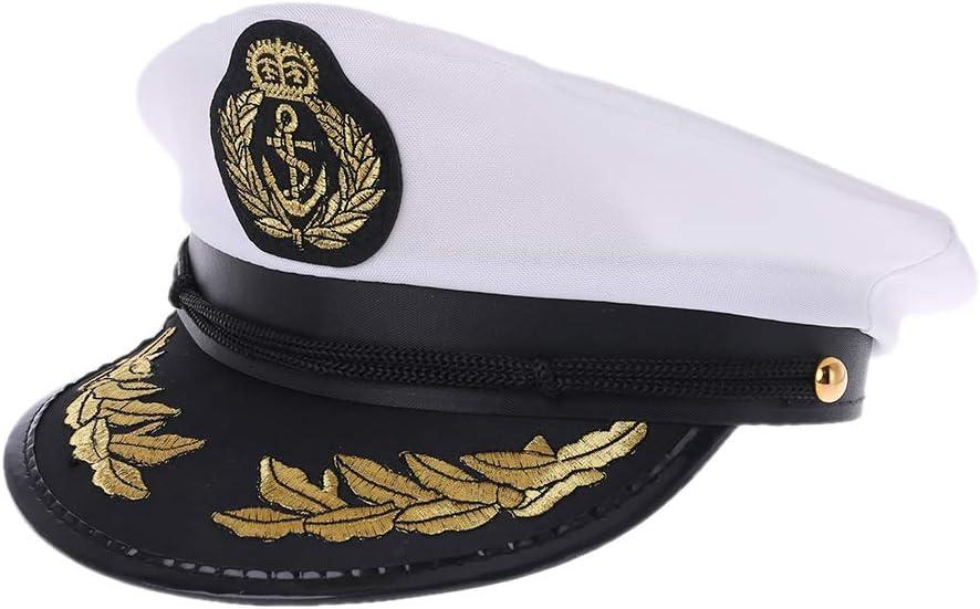 ruiruiNIE Sombrero de Marinero Adulto Blanco Barco capitán capitán ...