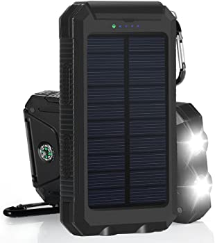 FKANT 10000mAh USB Solar Cell Phone Charger