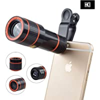 HKI Mobile Telescope Lens Kit For All Mobile Camera With 12X Zoom For HD Pictures With Dslr Blur Background Universal Compatibility