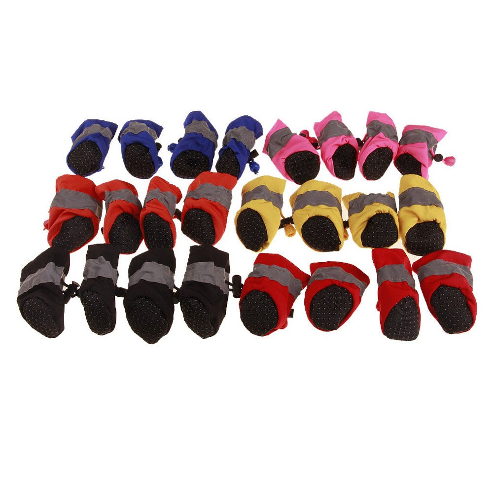 b36d0c2de89f0 Glumes Pet Boots Dog Boots 2019 New Pet Dog Puppy Rain Snow Boots Shoes  Booties Cashmere Leather Anti-Slip for Various Size Dogs Labrador Husky Paw  ...