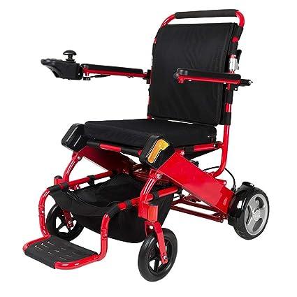 Inteligente Aleación de aluminio Anciano Eléctrico Silla de ruedas Plegable Ligero Batería de Litio Discapacitado Scooter