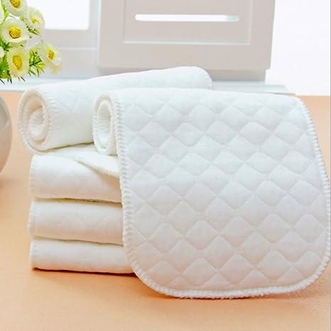Pañales lavables de tres capas de algodón ecológico para pañales ...