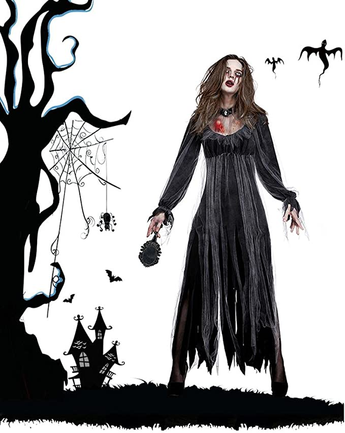 Disfraz De Vampiro, Fiesta De Vestido Clásico Scary Halloween M, L ...
