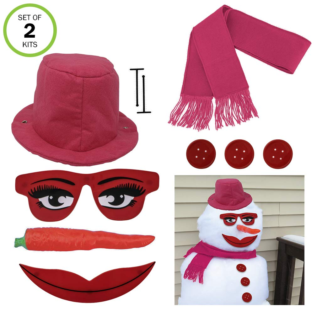 Evelots Lady Snowman Kit-All Pink-Glamorous Eyes//Mouth-Sturdy-Exclusive Design