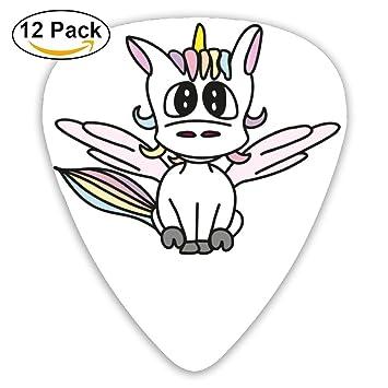 Púas de guitarra personalizadas para bebé, unicornio para niñas, niños, 12 unidades,
