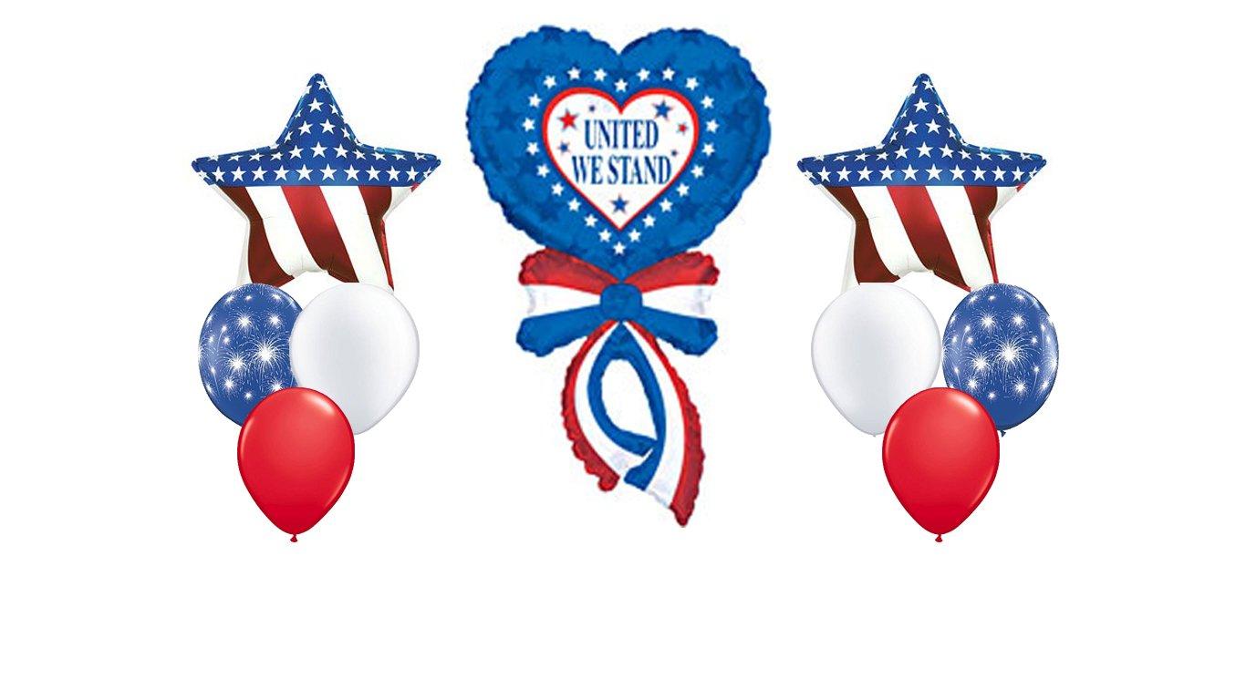 American Flag Patriotic Balloon Bouquet