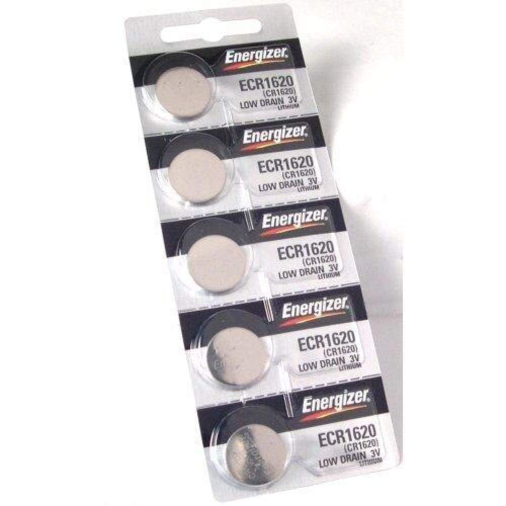 Energizer CR1620 Lithium Battery, Card of 5ORMD Energizer Batteries ECR1620