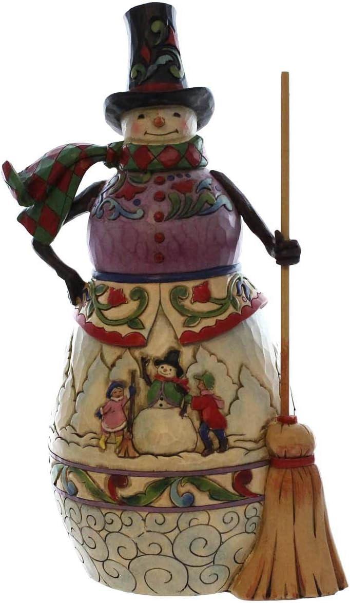Jim Shore Heartwood Creek Snow Days Snowman with a Winter Scene Tribute Piece 4041078