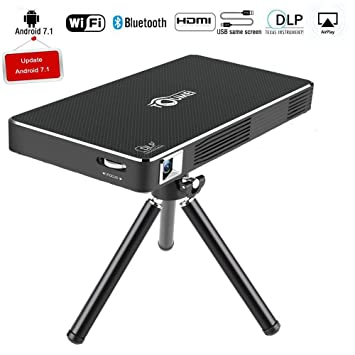 Mini projector, Toumei C800 LED portable, with Wifi HDMI TF USB ...