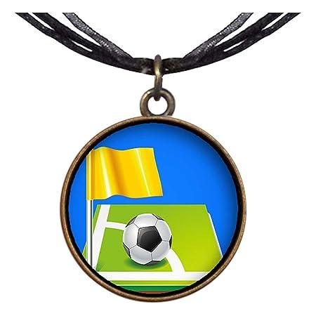 Estilo Retro de bronce GiftJewelryShop UEFA Euro balón de fútbol ...