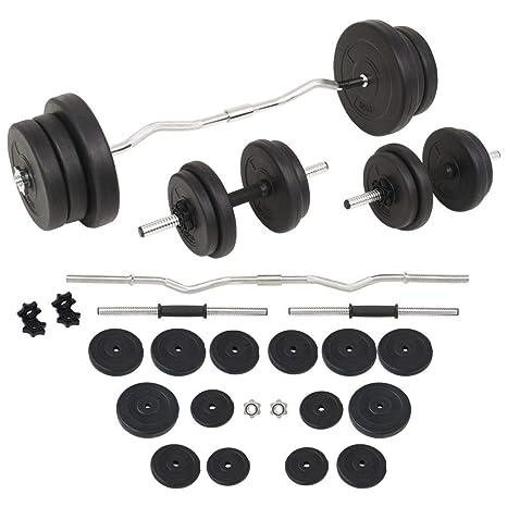 Tidyard Conjunto de Mancuernas Ajustables 60kg para Entrenar Pecho Bíceps Brazos Tríceps y Los Músculos Negro