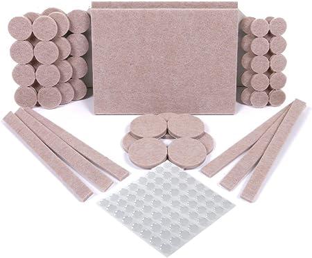 BOENTA Tampon Feutrine Chaise Patin de Chaise Coussins de Chaise Meubles Patins en Feutre pour planchers de Bois Franc Protecteurs de Plancher de Feutre Round 8,Pink