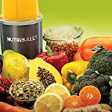 NutriBullet NB5G Nährstoff Extraktor Welcome-Set, 600 W, 20,000 Upm Smoothie Maker, grau -