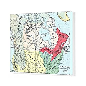 Amazon Com Media Storehouse 20x16 Canvas Print Of Antique Map Of