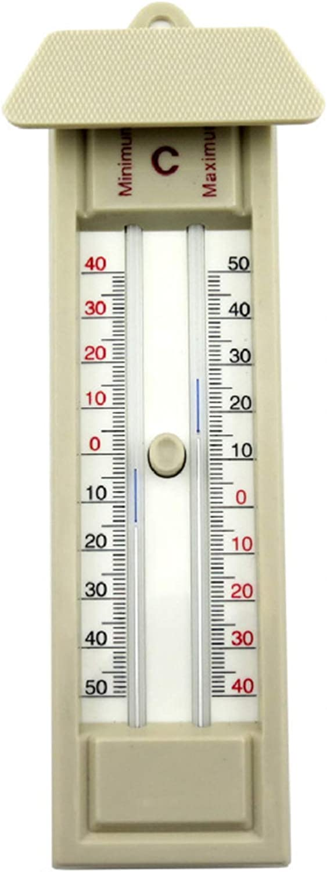 BuleEco Term/ómetro MAX Min para Invernadero Dise/ño Cl/ásico Term/ómetro MAX Min para Usar en El Invernadero del Jard/ín O para Uso Dom/éstico en Interiores O Exteriores F/ácilmente Montado en