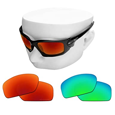 5aa1149d553 Amazon.com  OOWLIT 2 Pair Replacement Sunglass Lenses compatible ...