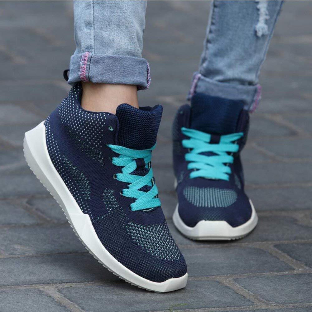 Oudan Sommer-beiläufige Schuhe, Weibliche Hohe Hilfe Breathable Turnschuhe, Erhöhen Starke die Unterseite, die Starke Gesponnene Ineinander Greifen-Laufende Schuhe, Trend Muffin Bottom Fashion-Schuhe schwimmt 45ff99