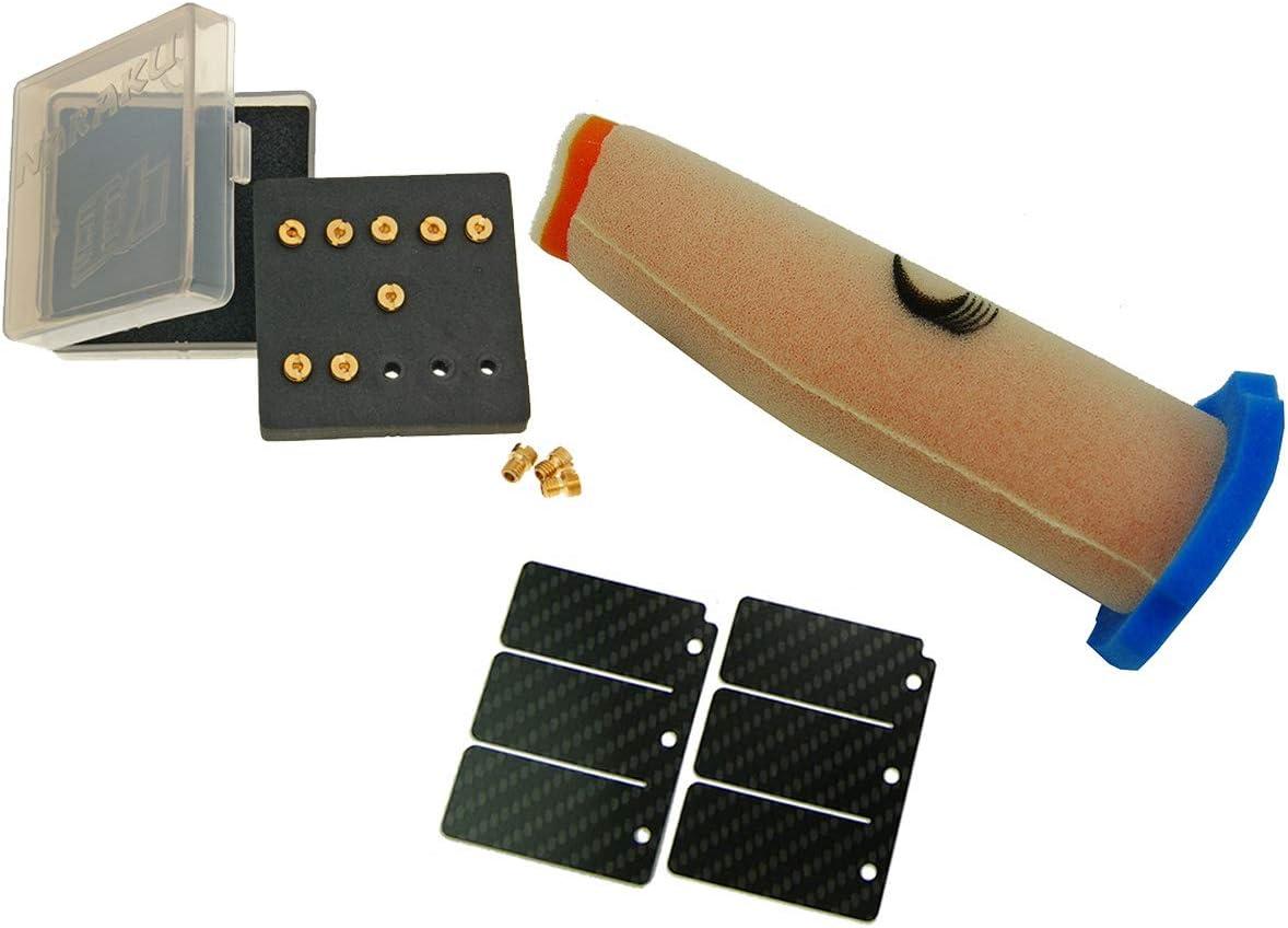Membrane Carbon 11 X D/üsen Kawasaki KMX 125 Stage 2 Racing Ersatzteil f/ür//kompatibel mit Luftfilter