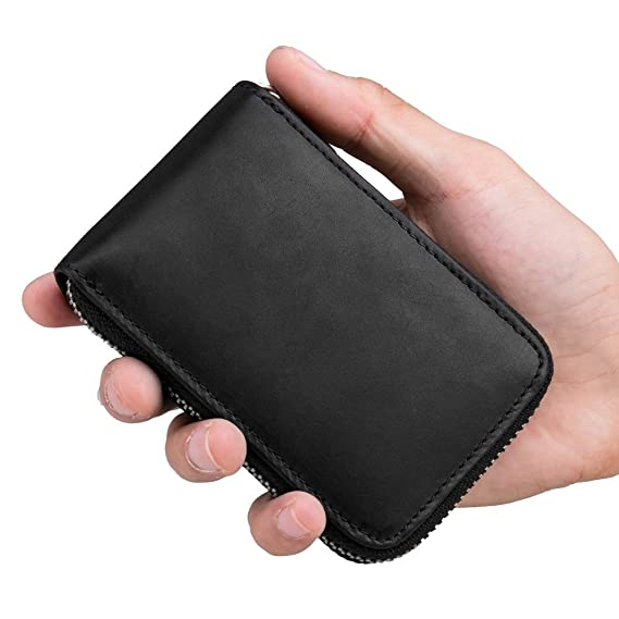 TEEMZONE Bussiness Card Holder Minimalist Wallet for Men ...