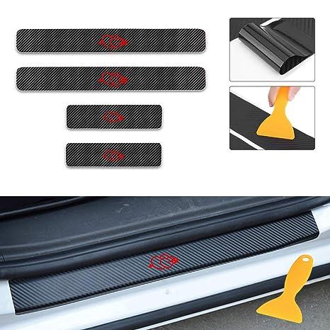 Amazon.com: Autotoper 4D Carbon Fiber Car door Plate Door ...