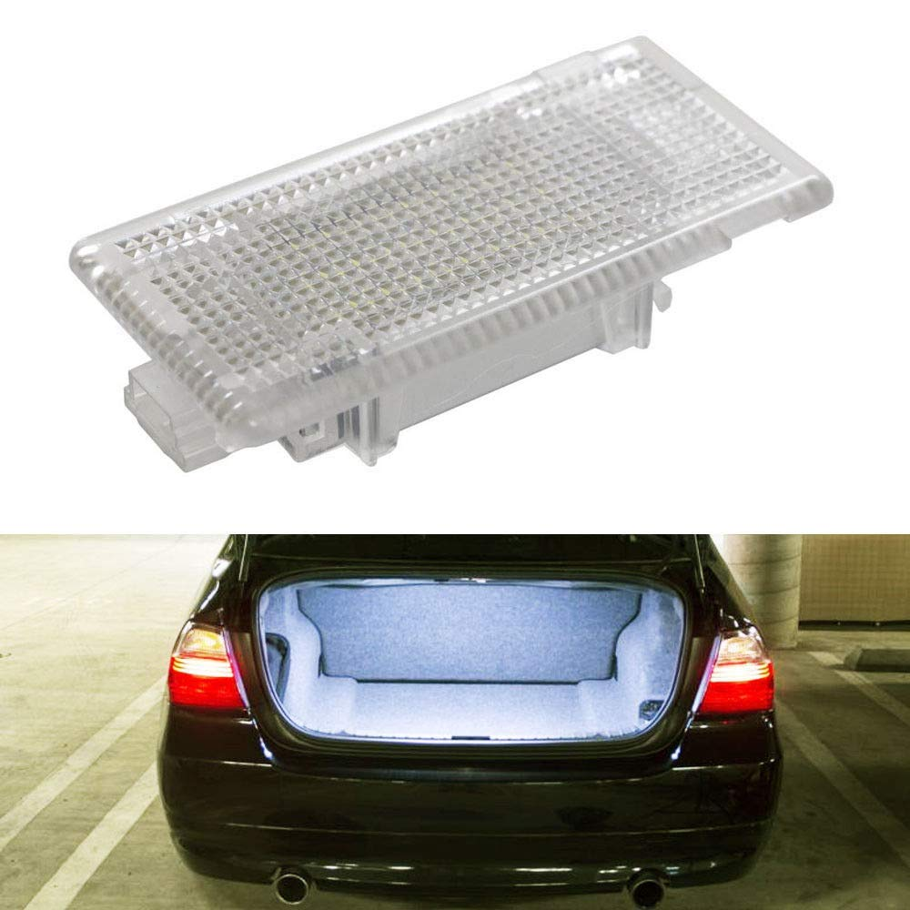 iJDMTOY Super Bright 2W High Power Xenon White Full LED Trunk Cargo Area Light Assembly Compatible With BMW 3 5 6 7 Series X1 X5 MINI, Powered by 24-SMD LED Diodes & CAN-bus Error Free