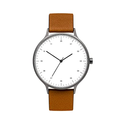BIJOUONE B302 Unique Minimalist White Dial Stainless, Gunmetal Tan, Size No Size: Shoes