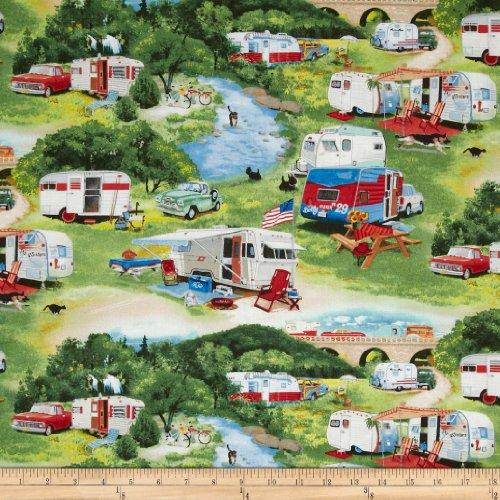 vintage trailer fabric - 4