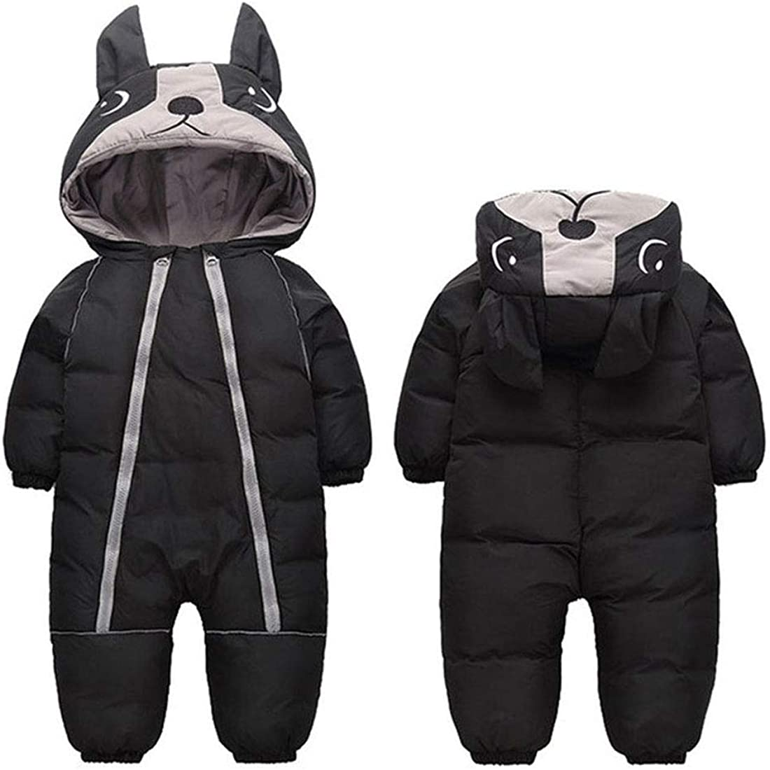 ALLAIBB Toddler Infant Baby Boy Girl Winter Snowsuit Coat Thick Onesie Romper Outwear Warm Hood Snow Suit Jumpsuit for 1-4T