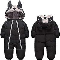 Traje de nieve con capucha cálida para bebés y niñas
