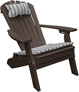 product image for Poly Folding and Reclining Fanback Adirondack Chair - Tudor Brown