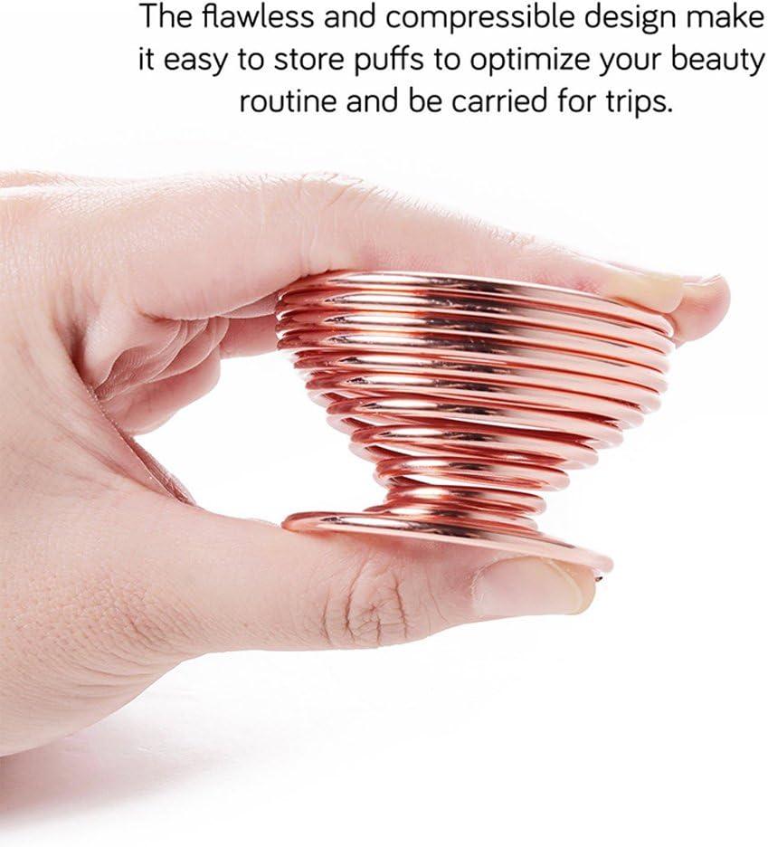 LanMa Beauty Sponge Blender Holder,(2 Pack Rose Gold) Makeup
