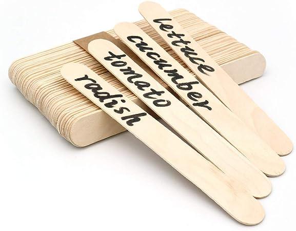 100 Palitos de madera para helados, 15x1,6 cm, palos de polo de ...